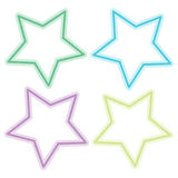 Abstract colorful star on white background Stock Photos