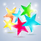 Abstract colorful stars Royalty Free Stock Images