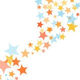 Abstract colorful stars background Royalty Free Stock Photos