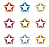 abstract colorful stars contour logo set on the white background Stock Photos