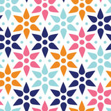 Abstract colorful stars seamless pattern Royalty Free Stock Photos