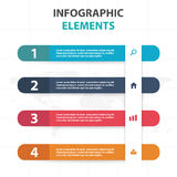 Abstract colorful sticker business Infographics elements, presentation template flat design vector illustration for web design Royalty Free Stock Image