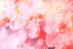 Abstract colorful strawberries background Stock Photos