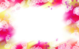 Abstract colorful strawberry border Royalty Free Stock Photos