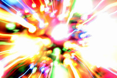 Abstract of colorful streaks. An abstract of colorful streaks and blurs of light Royalty Free Stock Images