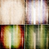 Abstract colorful striped backgrounds Stock Photography