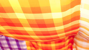 Abstract Colorful Striped loincloth fabric texture background Royalty Free Stock Photos