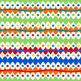 Abstract colorful striped and spotted pattern Stock Photo