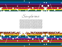 Abstract colorful stripes background Royalty Free Stock Photos