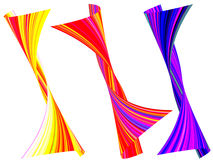 Abstract colorful stripes wrapped and twisted background Stock Photography