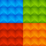 Abstract Colorful Studded Pattern, Background Set Stock Photos