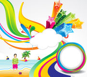 Abstract colorful summer background. Vector illustration Royalty Free Stock Photo