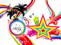Abstract colorful summer background Stock Images