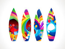 Abstract colorful surf board set Stock Photos