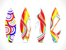 Abstract colorful surf board template. Vector illustration Stock Photo