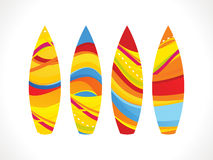 Abstract colorful surf board Royalty Free Stock Image