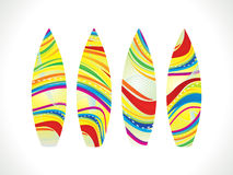 Abstract colorful  surf board Stock Photo