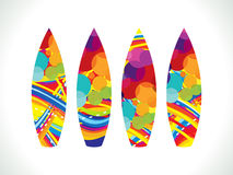 Abstract colorful surf board Royalty Free Stock Images