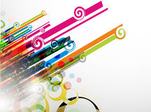 Abstract colorful swirl background Stock Photos