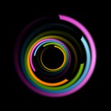 Abstract colorful swirl circle logo Stock Photography