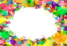 Abstract colorful swirl rainbow polygon around white background Royalty Free Stock Photography