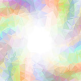 Abstract colorful swirl rainbow polygon around white Square background vector illustration