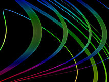Abstract, Colorful Swirls on Black Royalty Free Stock Photography