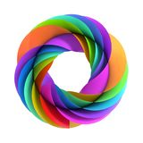 Abstract colorful symbol. 3d illustration - Abstract colorful symbol isolated on white background Stock Image