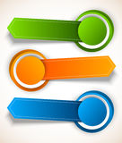 Abstract colorful tags Stock Photo