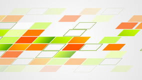 Abstract colorful tech geometric video animation stock footage