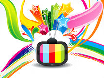 Abstract colorful telivision background Stock Image