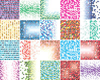 Abstract colorful tile backgrounds Stock Photo