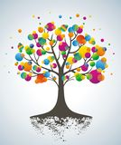 Abstract colorful tree. Royalty Free Stock Photos