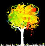 Abstract colorful tree Stock Images