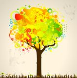 Abstract colorful tree Stock Photos