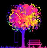 Abstract colorful tree Royalty Free Stock Photos