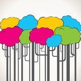 Abstract colorful tree background stock illustration