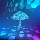 Abstract colorful tree background vector illustration. EPS10 Stock Images
