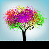 Abstract colorful tree. With copy space. EPS 8 Stock Image