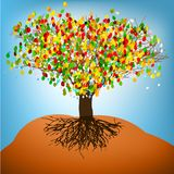 Abstract colorful tree. EPS8 Stock Images