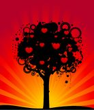 Abstract colorful tree with hearts. Stock Images
