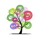 Abstract colorful tree for your design Stock Images
