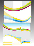 Abstract colorful tri fold brochrue template Royalty Free Stock Images