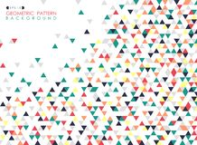 Abstract of colorful triangle geometric pattern cover background stock illustration