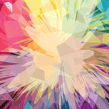 Abstract colorful triangle geometrical background. Vector illustration royalty free illustration