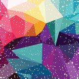 Abstract colorful triangle geometrical background. Vector illustration Stock Image