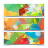 Abstract Colorful Triangle header set Royalty Free Stock Photography
