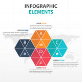 Abstract colorful triangle and hexagon business timeline Infographics elements, presentation template flat design vector. Illustration for web design marketing royalty free illustration