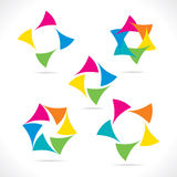 Abstract colorful triangle icon design Stock Image