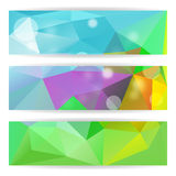 Abstract Colorful Triangle Polygonal header vector background. Royalty Free Stock Images